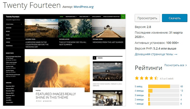 Twenty Fourteen WordPress
