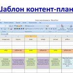 Составление контент-плана для сайта