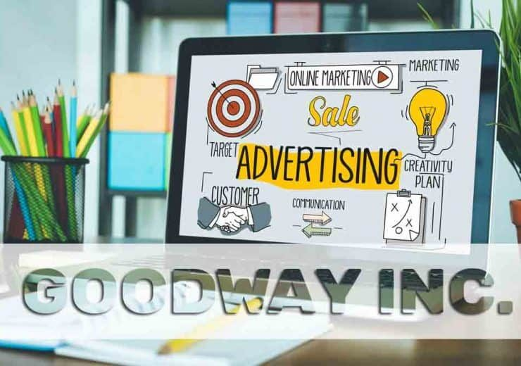 ADVERTISING concept on a screen